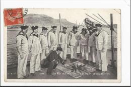 CPA Militaria : La Vie Du Marin - La Leçon D´orientation - Guerre 1914-18
