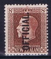 New Zealand: 1915  Mi D 28 MNH/**   8 P - Officials