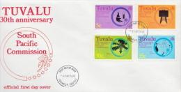 Tuvalu Set On FDC - Tuvalu