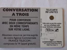 VARIETE 0 à L´ENVERS - CONVERSATION à 3  - 40820 - Fehldrucke