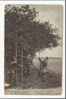 CPA MILITARIA : Pose D´un Fil Téléphonique N° 5 ( Dos Publicitaire : Aux Enfants Nantais Chaussures ) - Guerre 1914-18
