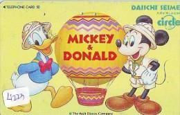 Télécarte Japon * DISNEY Disneyland (4223) Japan Phonecard * TELEFONKARTE * INSURANCE * BALLON - Disney