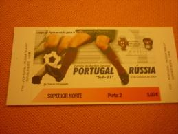Portugal-Russia Football Match Ticket Stub 12/09/2004 - Biglietti D'ingresso