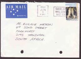 Australia On Cover - 1992 - Antarctic Territory, Emperor Penguin - Destination South Africa - Air Mail - 1990-99 Elizabeth II
