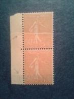 N° 199h **  Semeuse Lig.  Impression Sur Raccord. BdF. TTB.  Cote 165 € - Varieties: 1921-30 Mint/hinged