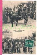 16 : COGNAC La Mi-careme 1911 , Groupe Sympathique Et Groupe D'indiens - Cognac