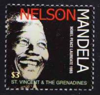St. Vin. Gre. MNH, Nelson Mandela, South Africa, Nobel Peace, Gandhi Peace Prize - Nobel Prize Laureates