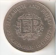 MONEDA DE GRAN BRETAÑA DE 25 PENCE DEL AÑO 1972 (COIN) - 1971-… : Monedas Decimales