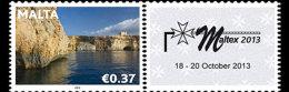 Malta 2013 - Maltex Exhibition 2013- (Se-Tenant) Mnh - Philatelic Exhibitions