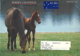 1986 Prepaid Envelope For Official Mail Of The Ausrtalia Post . Horses  Chevaux Pferde - Entiers Postaux