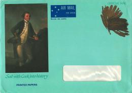 1987 Prepaid Envelope For Official Mail Of The Ausrtalia Post . Capt. Cook - Interi Postali