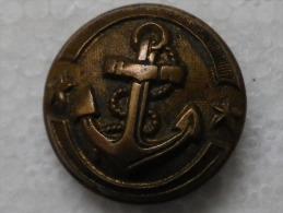 A Identifier Ancre De Marine Avec 2 étoiles ( Peut être De Marinier ? ) T.W & W PARIS Diam 20 Mm - Buttons