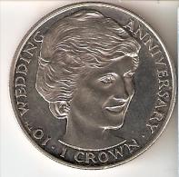 MONEDA DE GIBRALTAR DE 1 CROWN DEL AÑO 1991 DE LA PRINCESA DIANA DE GALES (COIN) SIN CIRCULAR-UNCIRCULATED - Gibilterra