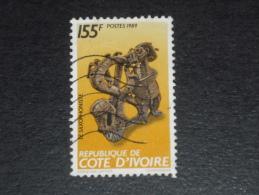 COTE D IVOIRE YT 826 OBLITERE - SCULPTURE SCULPTEUR - CHRISTIAN LATTIER - SAXOPHONE SAXOPHONISTE - - Ivory Coast (1960-...)