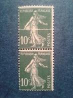N° 159 Type III ** Semeuse, Impression Sur Raccord. TTB. Cote 180 € - Varieties: 1921-30 Mint/hinged