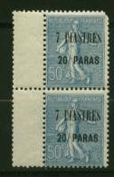 Levant N° 34 Neuf  XX Luxe  Paire   Cote Y&T  5,90  €uro  Au Quart De Cote - Levant (1885-1946)