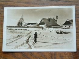 Zima Na Novomestsku ( Sportovni Klub Nové Mesto ) Pension Plocek / Anno 1938 ( Fotokaart - Zie Foto Details ) !! - Tchéquie