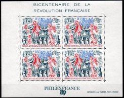 BF N° 1 -neuf** - Bicentenaire De La Révolution Française - TAAF - Blocs-feuillets