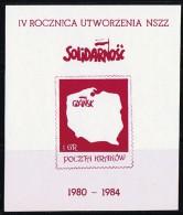 4th Anniversary Of NSZZ - Solidarnosc-Vignetten