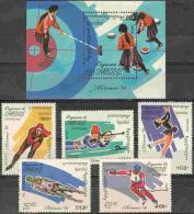 Olympic Games Cambodia 1994 #1410/4 + Bl 203 Lillehammer MNH ** - Winter 1994: Lillehammer