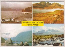 The Mistry Isle Of Skye ( Eilean A'Cheo ) , Mehrbildkarte , Storm Over The Cuillins - Blaven And Loch Slapin - Loch - Ecosse