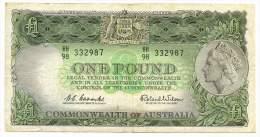 AUSTRALIA , 1 POUND 1961 -1965 , P- 34 - Pre-decimal Government Issues 1913-1965