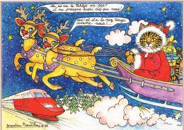 Illustration DeJacqueline BOURDILLON - Joyeux Noel / TGV - Illustrators & Photographers