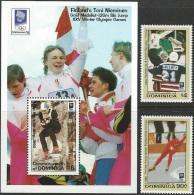 Olympic Games Dominica 1994 #1718/9 + Bl 242 Lillehammer MNH ** - Winter 1994: Lillehammer