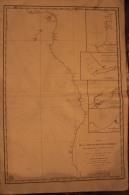 Carte Marine  1833 -  - Cote Occidentale D´afrique Entre Cap Formose Et Cap Frio - 87 Cm X 59 CM - Nautical Charts