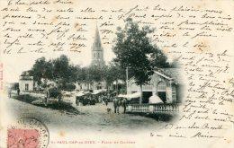 CPA 81 ST PAUL CAP DE JOUX PLACE ET CLOCHER 1904 Animée Plan Rare - Saint Paul Cap De Joux