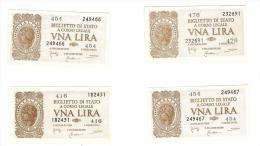 CARTAMONETA - 1 LIRA - ITALIA LAUREATA - DECR. 23 - 11 - 1944 - SPL/ STP/FDS - BS. 18 - LOTTO DI 12 PEZZI - [ 1] …-1946 : Koninkrijk