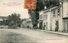 CPA 81 ST PAUL CAP DE JOUX AVENUE DE LAVAUR 1916 - Saint Paul Cap De Joux