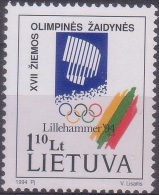 Olympic Games Lithuania 1994 #547 Lillehammer MNH ** - Winter 1994: Lillehammer