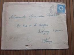 Cover Zensurbf BERLIN SO >13/4/1943 STO 36 Pflichtpraktika Service  Deutschland>pour Fur  Bobigny - Allemagne