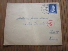 Cover + Mail Zensurbf  >Metzerl Cie Wailingen 31/3/1943 STO Pflichtpraktika Service  Deutschland>pour Fur  Paris - Briefe U. Dokumente