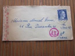 Cover + Mail Zensurbf  >Metzerl Cie Wailingen 1943 STO Pflichtpraktika Service  Deutschland>pour Fur  Paris - Alemania