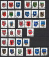 LATVIA 2007- 13 USED STAMPS MIX - COAT Of ARMS - Latvia