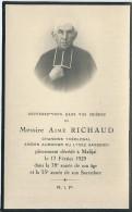 310F    Souvenir Du Chanoine Theologal Aimé Richaud Aumonier Lycée Gassendi à Digne Mort à Malijai - Godsdienst & Esoterisme