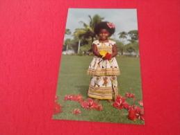 Fiji  9x14 Elizabeth Fijian Baby With Hibiscus Flowers - Figi