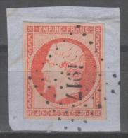 Napoléon III  N° 16a  Avec Oblitération Losange 1917 Sur Fragment  TTB - 1853-1860 Napoleon III