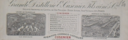 MARSEILLE Le Prado E. CUSENIER FILS & Cie Facture Illustree 1919 - Alimentaire