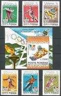 Olympic Games Romania 1994 #4954/9 + Bl 288  Lillehammer MNH ** - Winter 1994: Lillehammer