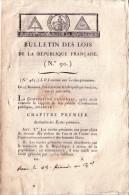 CONVENTION NATIONALE - BULLETIN DES LOIS RELATIF AUX ECOLES PRIMAIRES. - Décrets & Lois