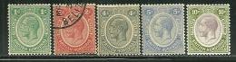 British Honduras       SC# 92, 94, 96-98      Mint & Used     SCV$ 49.50 - British Honduras (...-1970)