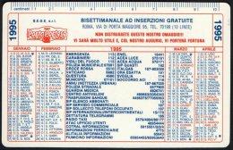 ITALIA 1995 - CALENDARIO TASCABILE - PORTAPORTESE - BISETTIMANALE AD INSERZIONI GRATUITE - Formato Piccolo : 1991-00