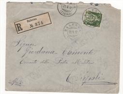 1912 Lettera Dalla Svizzera A Tripoli Con Chiudilettera Della Brigata Di Parma E Annullo Posta Militare,  Bella! - Italy