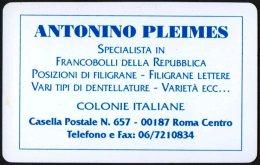 ITALIA 1996 - CALENDARIO TASCABILE - ANTONINO PLEIMES - SPECIALISTA IN FILATELIA - CALENDOVISITA 1996 - Formato Piccolo : 1991-00