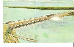 Kettle Generating Station, Nelson River, Manitoba   Artist's Conception  Serious Crease Line  Ligne De Pliee - Manitoba