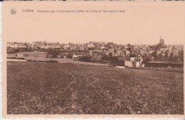 Lobbes Panorama Avec La Portelette Et Le Béfroi De La Ville De Thuin - Lobbes