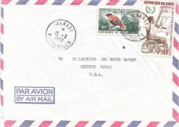 Niger 1982 Maradi Handicapped Year Wheelchair Euplectes Bird Cover - Niger (1960-...)
